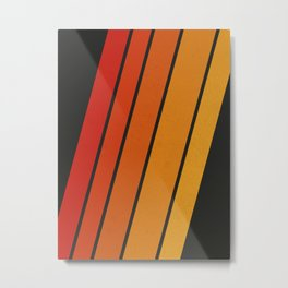 Retro 70s Stripes Metal Print