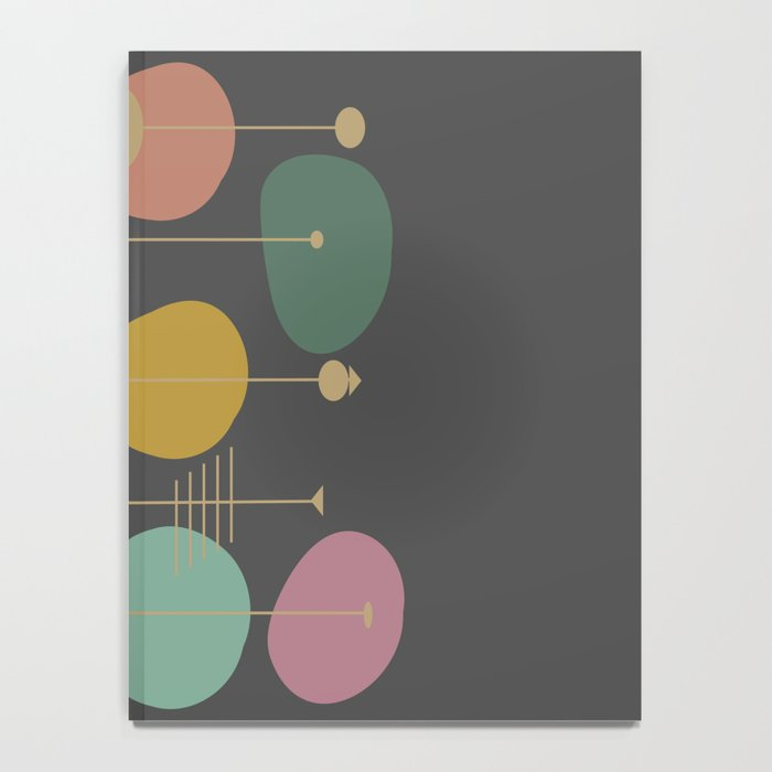 Mid Century Modern Atomic in Grey Notebook