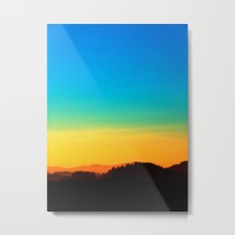 Colorful sundown scenic view | landscape photography Metal Print