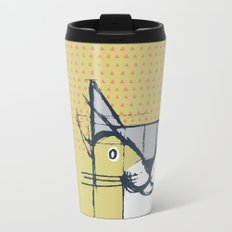 Cubist Cat Study #6 by Friztin Metal Travel Mug