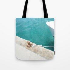 Boat Green Tote Bag