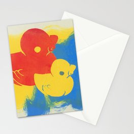 Rubber Duck Monoprint Stationery Cards