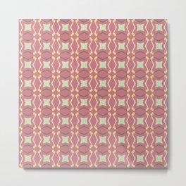 Geometric Stars Pink Girly Feminine Diamonds Stylish Art Metal Print