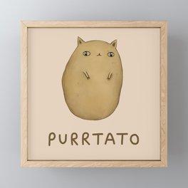 Purrtato Framed Mini Art Print