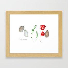 I found morning Framed Art Print