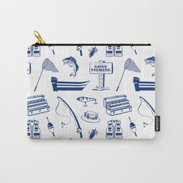Gone Fishing // Dark Blue Carry-All Pouch
