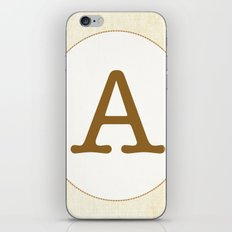 Vintage Letter Series - A iPhone & iPod Skin