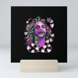 Stoned & Unusual - black Mini Art Print