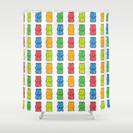Rainbow Gummy Bears Shower Curtain