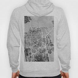 San Francisco City Street Map Hoody