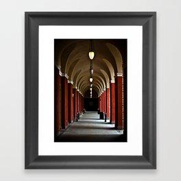 Hallways Of The Getty  Framed Art Print