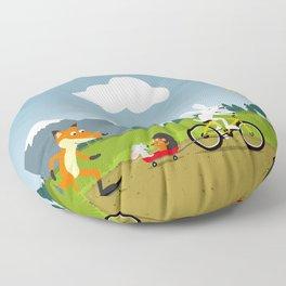 Happy riders Floor Pillow