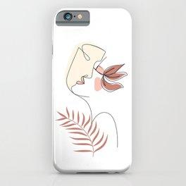 Line Art Kiss iPhone Case