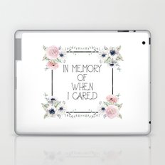 In Memory of When I Cared - white version Laptop & iPad Skin