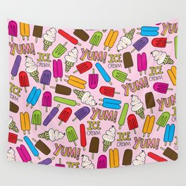 Ice Cream Doodles Wall Tapestry