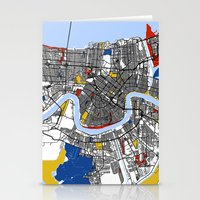 new orleans Stationery Cards featuring New Orleans by Mondrian Maps