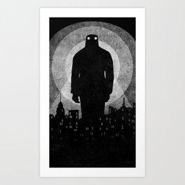 The Boogieman ᐅ Charcoal Drawing ᐅ Black & white drawing ᐅ Charcoal Poster Art Print