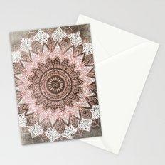 BOHOCHIC MANDALA IN CORAL Stationery Cards