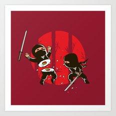 Ninja Sushi Art Print