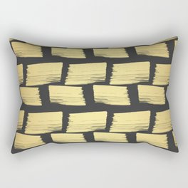 Gold Art-deco Geometric Patter Wrapping Paper Rectangular Pillow