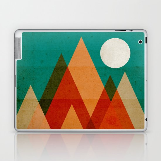 Full moon over Sahara desert Laptop & iPad Skin