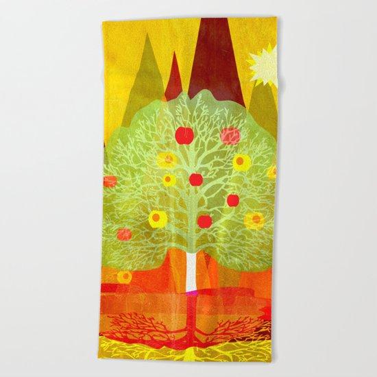 Summer Tree Beach Towel