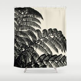Palm Fan Shower Curtain