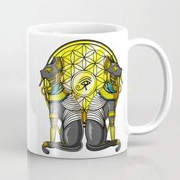 Egyptian Cat Goddess Bastet Sacred Geometry Coffee Mug