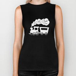 I Think I Can, I Think I Can, I Think I Can - The Little Engine that Could inspired Print Biker Tank