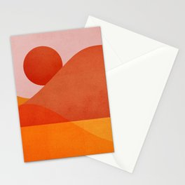 Abstraction_Mountains_SUNSET Stationery Cards