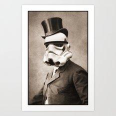 Portrait of a Sir Stormtrooper Art Print