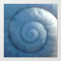 shell Canvas Prints featuring shell by Motif Mondial