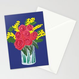Roses & mimosas Stationery Cards