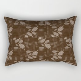 Leaves in Water; Umber Batik Rectangular Pillow