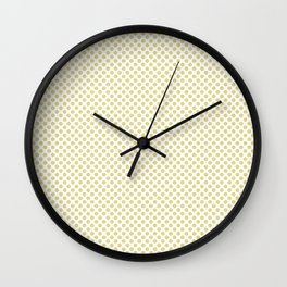 Custard Polka Dots Wall Clock