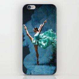 -O1- Blue Ballet Dancer Deep Feelings. iPhone Skin