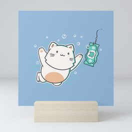 Nevermind Cat Mini Art Print