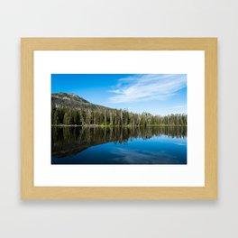 Yellowstone Reflective Lake Framed Art Print
