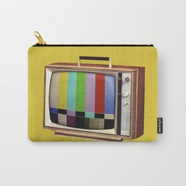 Retro old TV on test screen pattern Carry-All Pouch