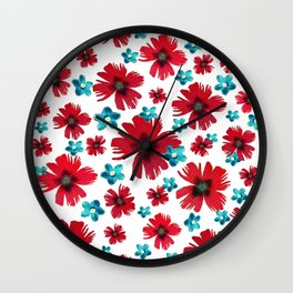 Carnations & Columbines Wall Clock