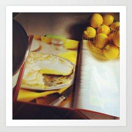 Lemon Meringue Pie Art Print