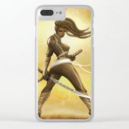 Golden Samurai Penny Clear iPhone Case