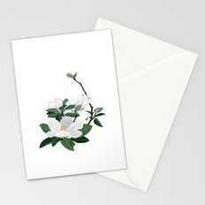 Magnolia Flowers Stationery Cards