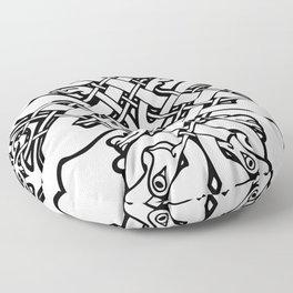 Celtic dogs 1 Floor Pillow