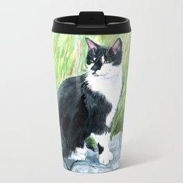 Louie the Tuxedo Cat Travel Mug
