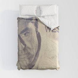 North by Northwest, Alfred Hitchcock, vintage movie poster, Cary Grant, minimalist Comforters