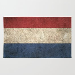 Old and Worn Distressed Vintage Flag of The Netherlands Rug