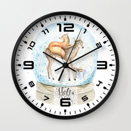 Christmas deer #3 Wall Clock