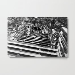 Zig zag stairs Metal Print
