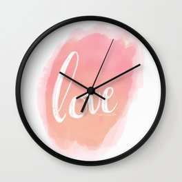 Pretty Love Print With Arrows Wall Clock